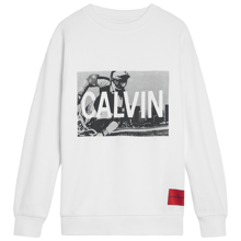 Calvin Klein BMX Photoprint Oversize Sweatshirt Bright White