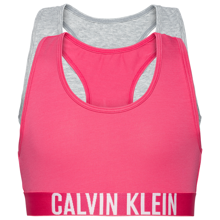 Calvin Klein Underwear 2-pack Bralette Grey Heather/1 Beetrootpurple