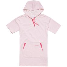 Calvin Klein Hooded Shirtdress Pink Heather