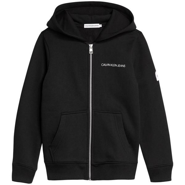 Calvin Klein Monogram Zip Sweatshirt Black