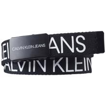 Calvin Klein Canvas Logo Belt Black Beauty