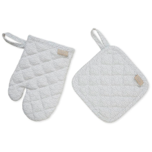 Cam Cam Kids Oven Glove and Pot Holder Play Set Grey Wave