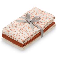 Cam Cam Muslin Clothes 3-pack Caramel Leaves/Caramel/Creme White