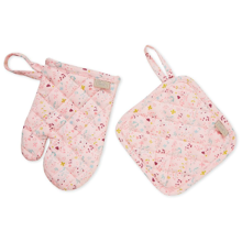 Cam Cam Kids Oven Glove and Pot Holder Play Set Fleur