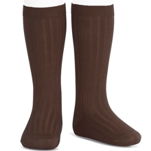 Cóndor Kneehigh Socks Rib Marron
