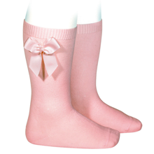 Cóndor Socks W. Bow Pale Pink