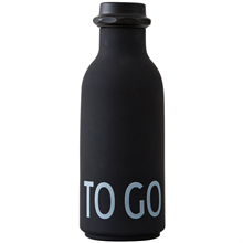 Design Letters To Go Waterbottle Black