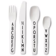 Design Letters ABC Cutlery White