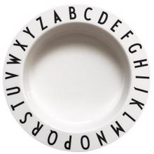 Design Letters White Eat & Learn ABC Deep Plate