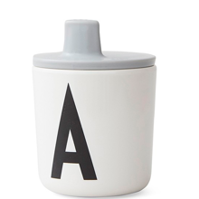Design Letters ABC Drink Lid Grey