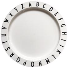 Design Letters White Eat & Learn ABC Plate