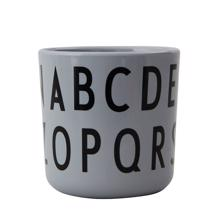 Design Letters Grey ABC Cup