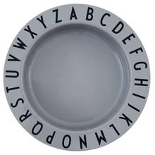 Design Letters Grey Eat & Learn ABC Deep Plate