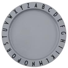Design Letters Grey Eat & Learn ABC Plate