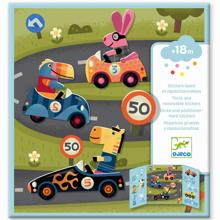 Djeco Stickers Reusable Cars