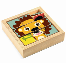 Djeco Wooden Blocks Puzzle Tournanimo