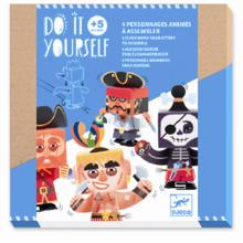 Djeco Do It Yourself Wind-Up Characters - Up and At 'Em