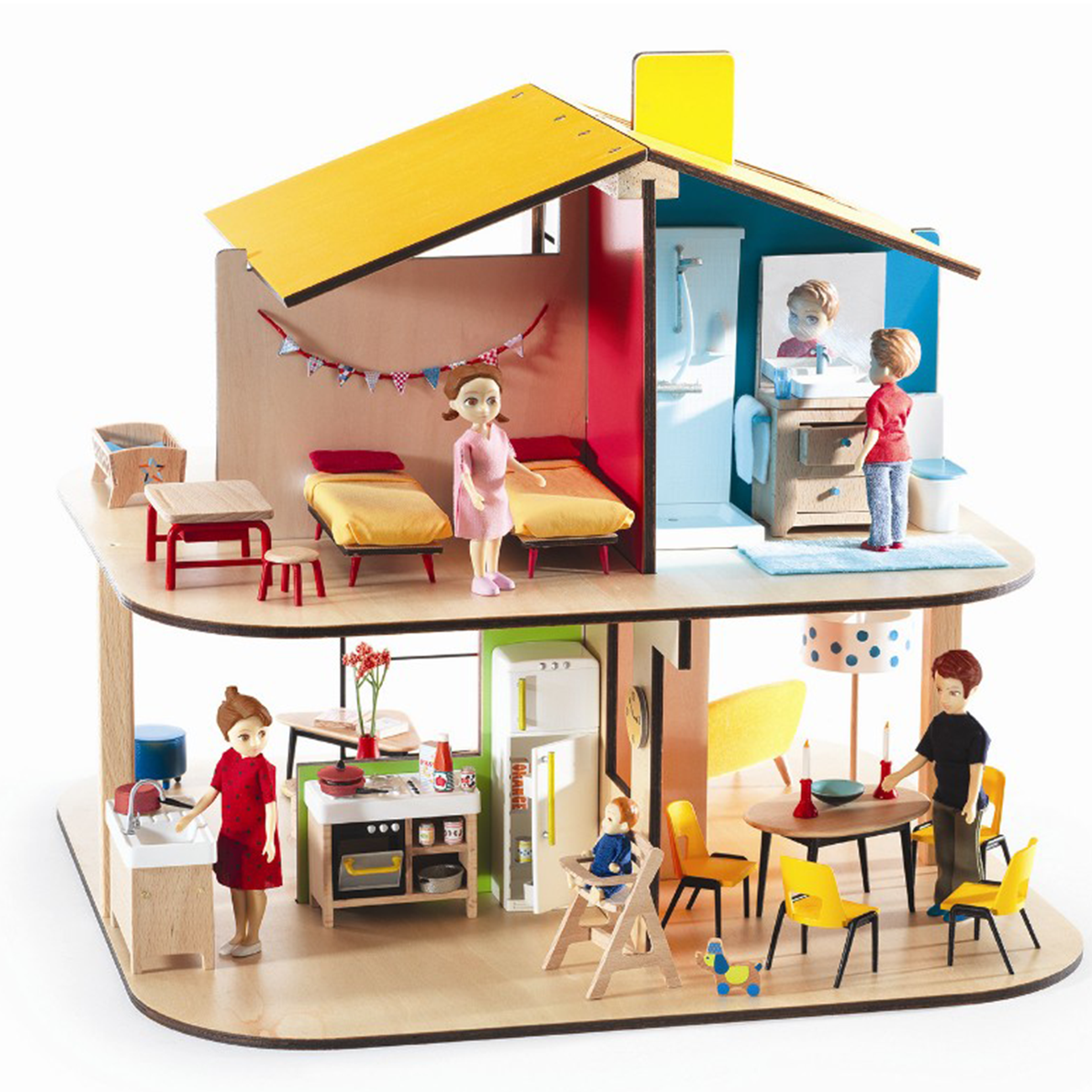 Djeco Petit Home Doll House Small