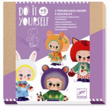 Djeco Do It Yourself Wind-Up Characters - Cute Forest Creatures