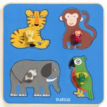 Djeco Puzzle Large Buttons Family Jungle