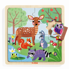 Djeco Puzzle Bois Puzzlo Forest