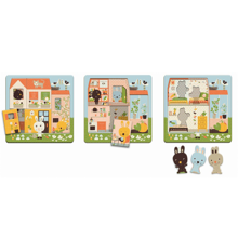 Djeco 3 Layers Puzzle Chez Carot Rabbit Cottage