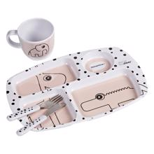 Done by Deer Toddler Dinner Set Happy Dots Powder