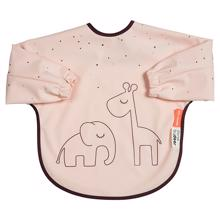 Done by Deer Bib with Long Sleeves Dreamy Dots Powder