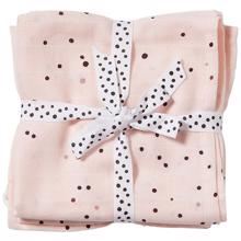 Done by Deer Burb Cloth 2-pack Dreamy Dots Powder