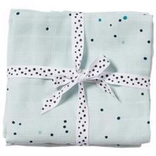 Done by Deer Burb Cloth 2-pack Dreamy Dots Blue