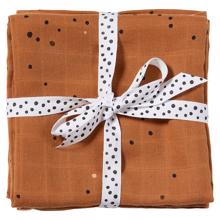 Done by Deer Burb Cloth 2-pack Dreamy Dots Mustard