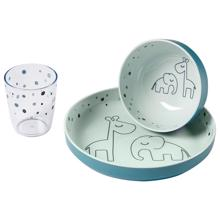 Done by Deer Gummi Mini Dinner Set Dreamy Dots Blue