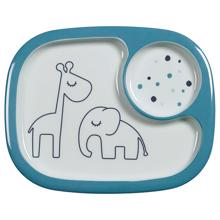 Done by Deer Plate Compartment Dreamy Dots Blue