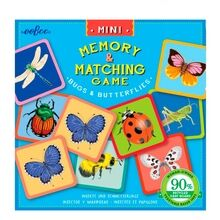 Eeboo Miniature Memory Game - Bugs and Butterflies