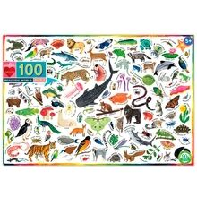 Eeboo Puzzle 100 Pieces - Animals in the World