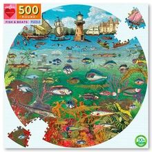Eeboo Puzzle 500 Pieces - Fish and Boats