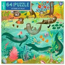 Eeboo Puzzle 64 Pieces - Otters at Play