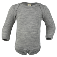 Engel Baby Body Long Sleeved Grey Melange