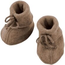 Engel Baby Booties w. Ribbon Walnuss Melange