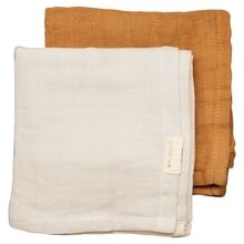 Fabelab Muslin Cloth 2-pack Fawn