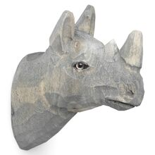 Ferm Living Hand Carved Hook Rhino