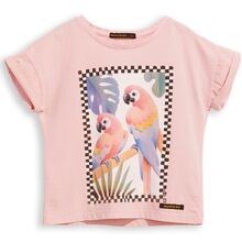 Finger In The Nose New Britney Parrots T-shirt Pale Pink
