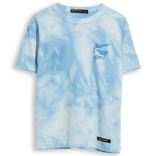 Finger In The Nose Kid Crew Neck Tie & Dye T-shirt Pale Blue