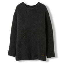 Finger In The Nose Skylar Dark Grey Heavy Knitted Oversized Jumper