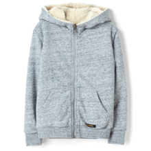 Finger In The Nose Hooper Heather Grey Reversible Zipped Hoody