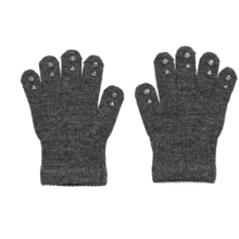 GObabyGO Grip Gloves Dark Grey Melange