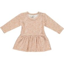 GRO White/Caramel Baby Dress Bell