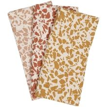 Haps Nordic Sui Muslin Cloths 3-pack Warm Terrazzo