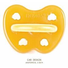 Hevea Pacifier Cars (anatomic)