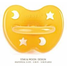 Hevea Pacifier Star and Moon (anatomic)